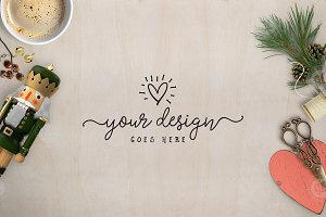 Crafters Christmas Styled Desktop