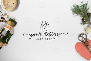 Christmas styled desktop scene