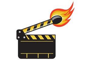 Clapper Board Match Stick On Fire