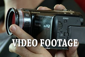 VIDEO FOOTAGE. The small camcorder