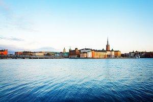 skyline of Stockholm, Sweden