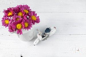 flower vase and scooter model