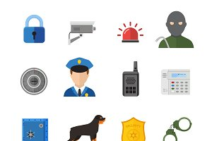 Vector security icons isolated