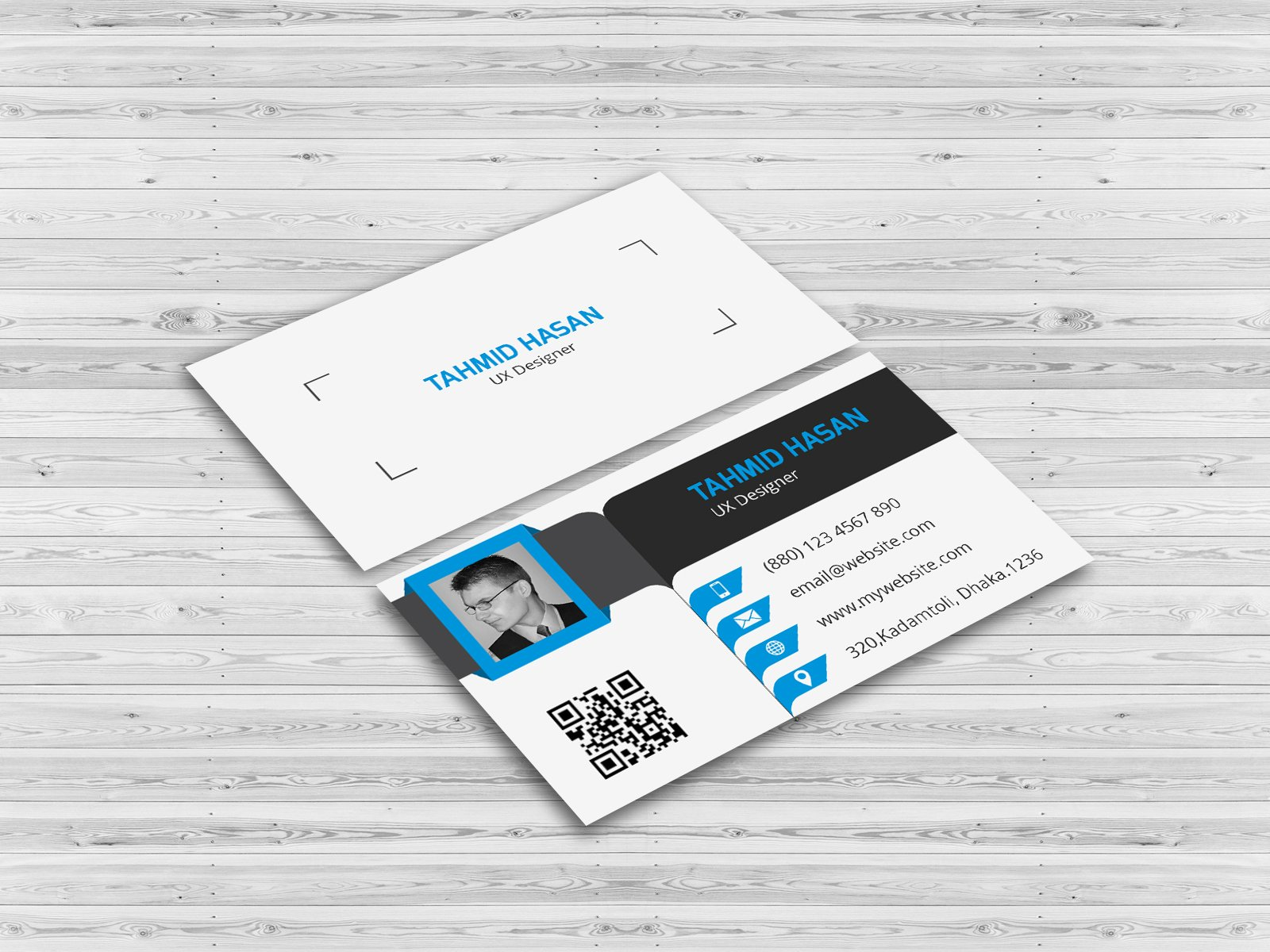 Corporate personal business card business card templates for Personal business cards examples
