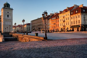 City of Warsaw at Sunrise