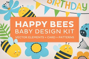 Happy bees baby design kit
