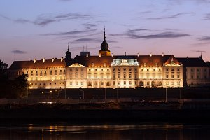 Royal Castle in Warsaw at Twilight