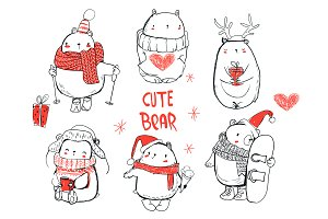 cute winter bears