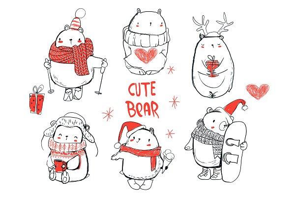 cute winter bears