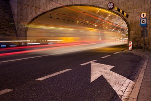 Tunnel Street Light Trails