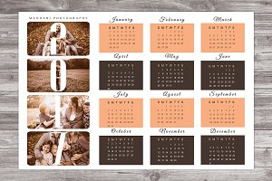 2017 Wall Calendar Template CA01