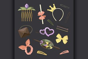 Hair Accessories Object Set