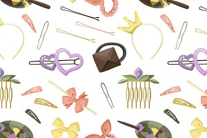 Hair Accessories Object Set pattern