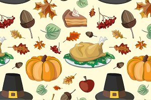 Happy Thanksgiving set pattern