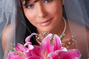 bride with dark hair