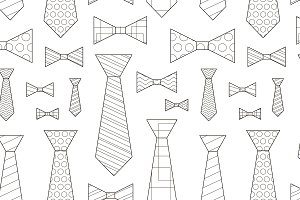 Pattern of Vector Ties and Bow Ties