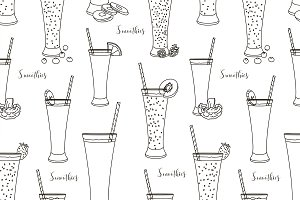Pattern with smoothies