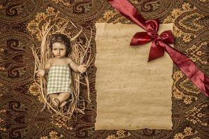 Baby Jesus  traditional Christmas.