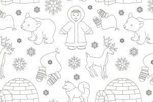 eskimo characters pattern