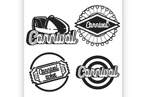 Vintage Amusement park emblems