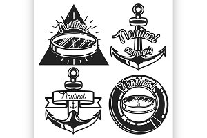 Vintage nautical emblems