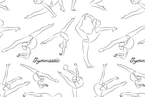Woman stretching, gymnastic