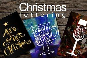 5 Christmas Letterings +BONUS
