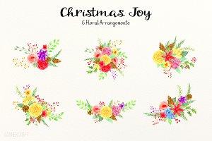 Christmas Joy Floral Bouquet Set 2