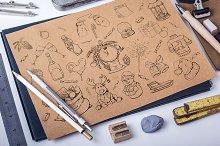 Christmas doodle set + patterns