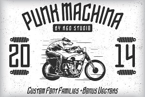 Punk Machina Typeface + Bonus