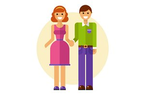 Smiling Couple Vector