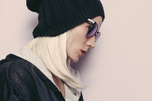 Swag beanie.Glamorous Sunglasses.