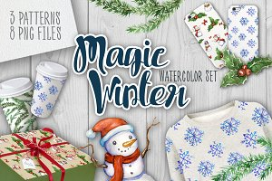 Magic Winter Watercolor Set