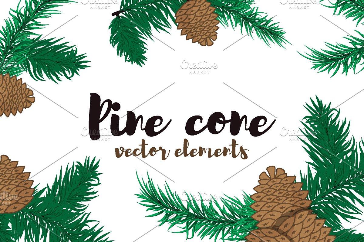 Christmas Branch Vector.Pine Branches Vector Illustrations Creative Market