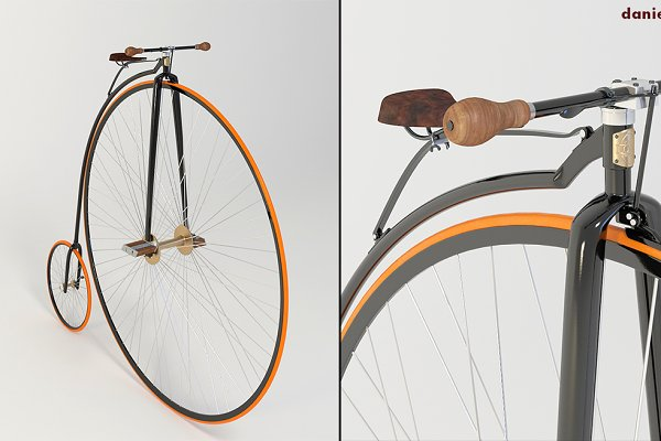 3D Vehicles: Daniel Mikulik - Penny Farthing Bicycle