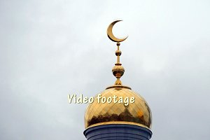 Muslim Mosque (crescent) in Moscow