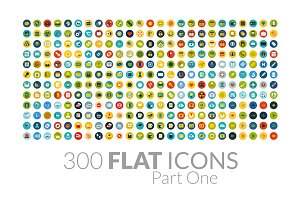 300 Flat Icons - Part One
