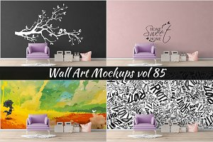 Wall Mockup - Sticker Mockup Vol 85
