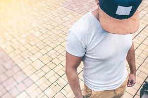 Young Man Wearing Baseball Cap