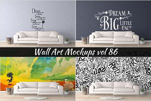 Wall Mockup - Sticker Mockup Vol 86