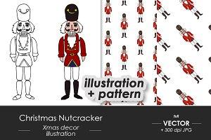 Christmas Nutcracker vector set
