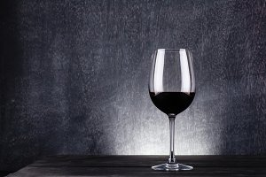 Dark wine glass