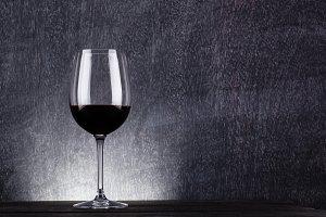 Dark wine glass