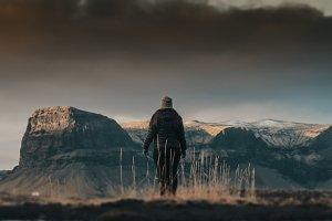 Woman & Mountains 1
