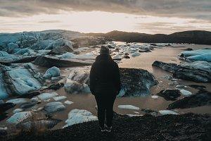 Woman & Glacier 1