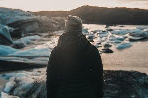 Woman & Glacier 2