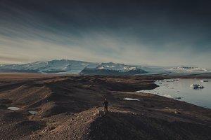 Man & Vatnajökull Glacier