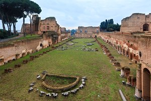 Palatine Hill in Rome, Italy.