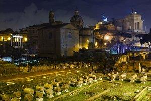 Roman Forum in Rome, Italy.