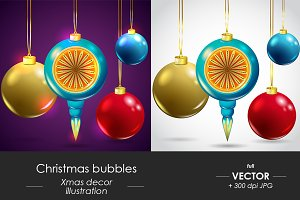 Christmas vector bubbles